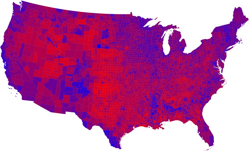 Voters by county